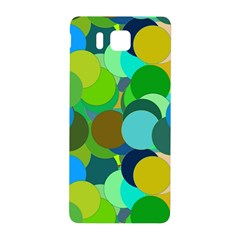 Green Aqua Teal Abstract Circles Samsung Galaxy Alpha Hardshell Back Case