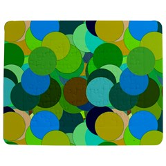 Green Aqua Teal Abstract Circles Jigsaw Puzzle Photo Stand (rectangular)