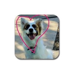 I Love You Rubber Coaster (Square)