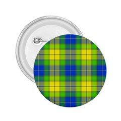 Spring Plaid Yellow 2.25  Buttons