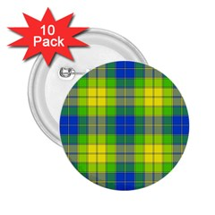 Spring Plaid Yellow 2.25  Buttons (10 pack)