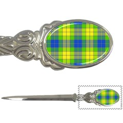 Spring Plaid Yellow Letter Openers