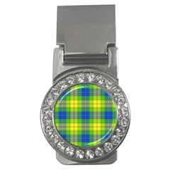 Spring Plaid Yellow Money Clips (CZ)