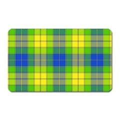 Spring Plaid Yellow Magnet (rectangular)