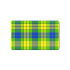 Spring Plaid Yellow Magnet (name Card)