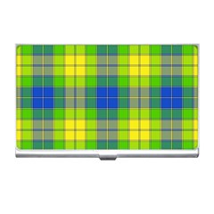 Spring Plaid Yellow Business Card Holders