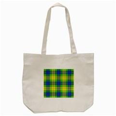 Spring Plaid Yellow Tote Bag (Cream)