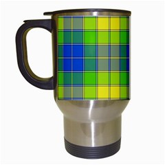 Spring Plaid Yellow Travel Mugs (White)