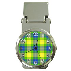 Spring Plaid Yellow Money Clip Watches