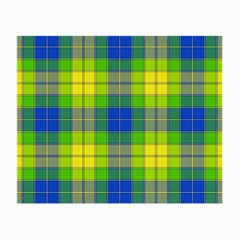 Spring Plaid Yellow Small Glasses Cloth (2-Side)