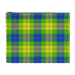 Spring Plaid Yellow Cosmetic Bag (xl)