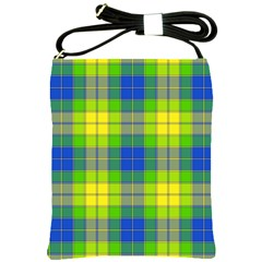 Spring Plaid Yellow Shoulder Sling Bags
