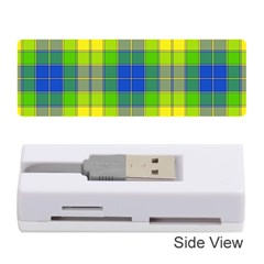Spring Plaid Yellow Memory Card Reader (stick)