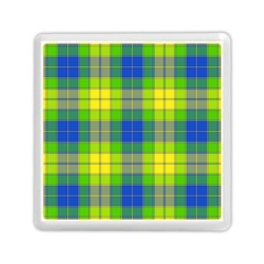 Spring Plaid Yellow Memory Card Reader (square)