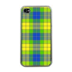 Spring Plaid Yellow Apple Iphone 4 Case (clear)