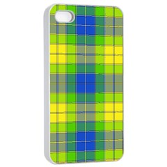 Spring Plaid Yellow Apple iPhone 4/4s Seamless Case (White)