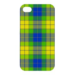 Spring Plaid Yellow Apple iPhone 4/4S Hardshell Case