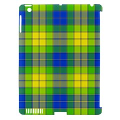 Spring Plaid Yellow Apple Ipad 3/4 Hardshell Case (compatible With Smart Cover)