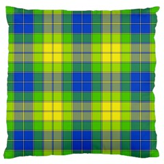 Spring Plaid Yellow Large Cushion Case (Two Sides)
