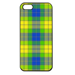 Spring Plaid Yellow Apple iPhone 5 Seamless Case (Black)
