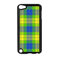 Spring Plaid Yellow Apple iPod Touch 5 Case (Black)