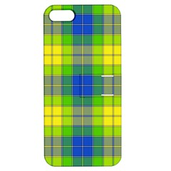 Spring Plaid Yellow Apple Iphone 5 Hardshell Case With Stand