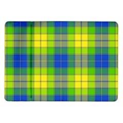 Spring Plaid Yellow Samsung Galaxy Tab 10 1  P7500 Flip Case