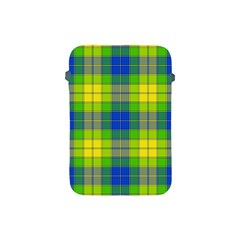 Spring Plaid Yellow Apple iPad Mini Protective Soft Cases