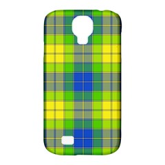 Spring Plaid Yellow Samsung Galaxy S4 Classic Hardshell Case (PC+Silicone)