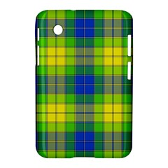 Spring Plaid Yellow Samsung Galaxy Tab 2 (7 ) P3100 Hardshell Case