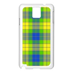 Spring Plaid Yellow Samsung Galaxy Note 3 N9005 Case (White)