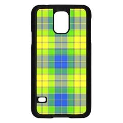 Spring Plaid Yellow Samsung Galaxy S5 Case (Black)