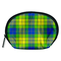 Spring Plaid Yellow Accessory Pouches (Medium)