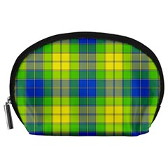 Spring Plaid Yellow Accessory Pouches (Large)