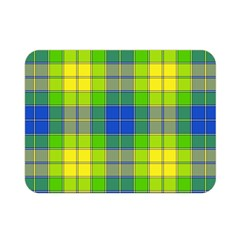 Spring Plaid Yellow Double Sided Flano Blanket (mini)