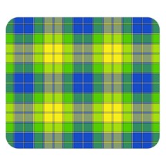 Spring Plaid Yellow Double Sided Flano Blanket (Small)