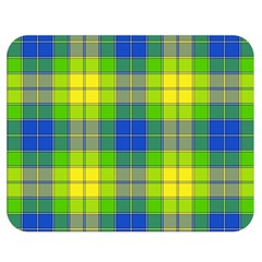 Spring Plaid Yellow Double Sided Flano Blanket (Medium)