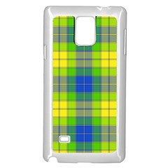 Spring Plaid Yellow Samsung Galaxy Note 4 Case (white)