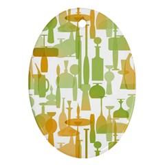 Angerine Blenko Glass Ornament (oval)