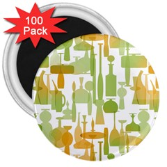 Angerine Blenko Glass 3  Magnets (100 pack)