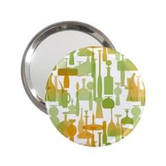 Angerine Blenko Glass 2.25  Handbag Mirrors