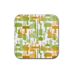 Angerine Blenko Glass Rubber Coaster (Square)