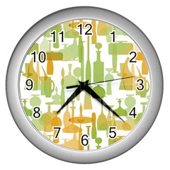 Angerine Blenko Glass Wall Clocks (silver)