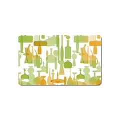 Angerine Blenko Glass Magnet (name Card)