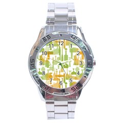Angerine Blenko Glass Stainless Steel Analogue Watch