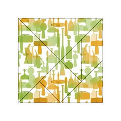 Angerine Blenko Glass Acrylic Tangram Puzzle (4  x 4 )