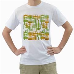 Angerine Blenko Glass Men s T-Shirt (White)