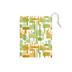 Angerine Blenko Glass Drawstring Pouches (Small)