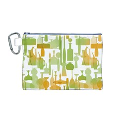 Angerine Blenko Glass Canvas Cosmetic Bag (M)