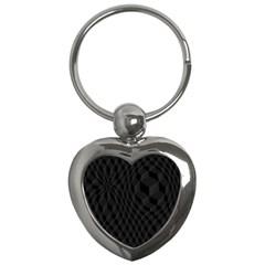 Pattern Dark Texture Background Key Chains (heart)